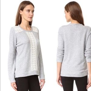 Soft Joie Crochet Sweatshirt